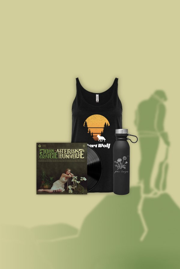 Asterisk the Universe Vinyl (signed) + Part Wolf Tank + Water Bottle