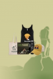 Asterisk the Universe Vinyl (signed) + Part Wolf Tank + Water Bottle + Tote Bag + Hat
