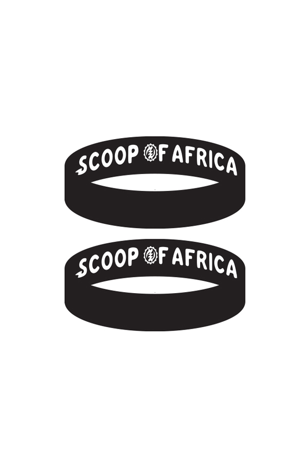 2 Black Scoop Of Africa Wristbands