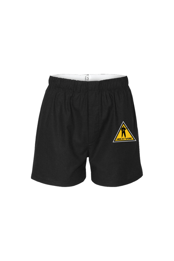 Men At Work Caution Boxers (Black)