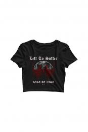 Lost at Last Crop Top (Black) - Left to Suffer