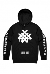 Spray Paint Pullover Hoodie (Black)