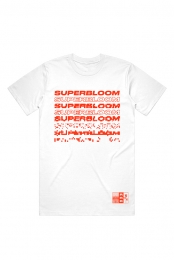 Superbloom in Red Tee (White)