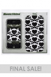 Heart Crossbones Iphone Skin