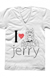 I Heart Jerry V-Neck (White)