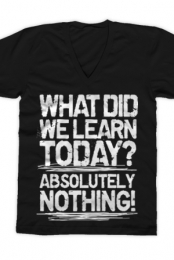 What Did We Learn V-Neck (Black)