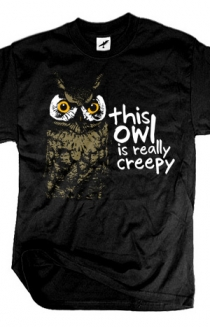Creepy Owl (Black)