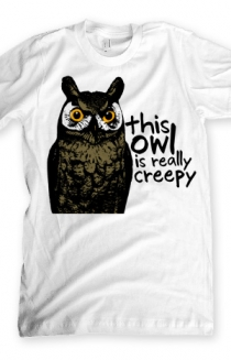 Creepy Owl (White)