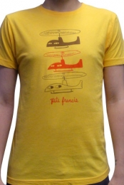 Helicopter Mens Tee (Gold)