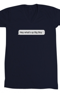 What's Up Big Boy (Navy V-Neck)