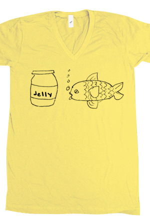 Jellyfish (Pale Yellow V-Neck)