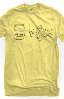 Jellyfish (Pale Yellow Crew-Neck)