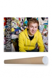 Dan Brown Poster + Poster Tube Package