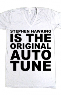 Stephen Hawking V-Neck (White)