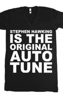 Stephen Hawking V-Neck (Black)