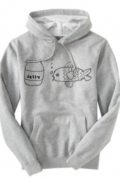 Jellyfish Hoodie (Heather Grey)
