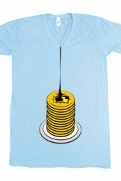 Waffles V-Neck (Light Blue)