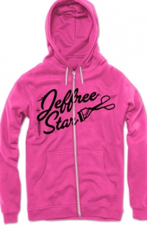 Deep Pink Queen Bitch Hoodie (with Silver Foil)
