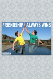 Friendship Always Wins Poster+Poster Tube