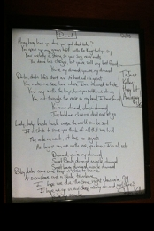 Handwritten Lyrics for Charity
