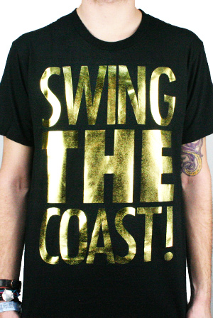 Swing The Coast Gold Foil T Shirt Swing The Coast T Shirts