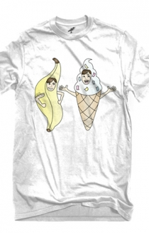 Bananalew & Coneith (White Crew Neck)