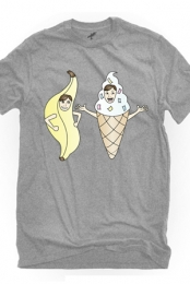Bananalew & Coneith (Heather Grey Crew Neck)