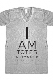 Lewnatic Eye Chart (Heather  Grey V-Neck)