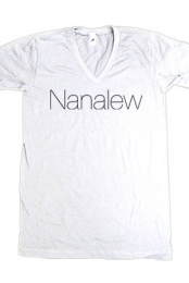 Nanalew (White V-Neck)