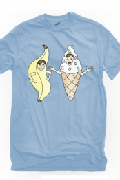Bananalew & Coneith (Light Blue Crew Neck)