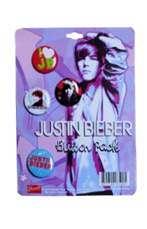Justin Bieber Button Pack