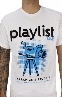 2011 Playlist Live T-Shirt (White)