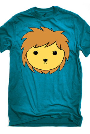 Lion Face (Teal)