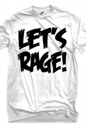 Let's Rage Logo (White)