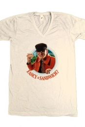 Fancy Sandwich - Creme (V-Neck)