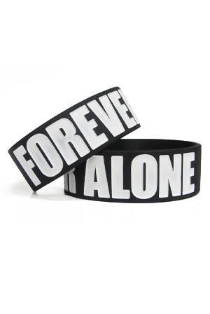 forever alone wristband accessories comedy accessories official