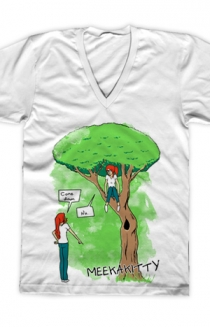 The Tree V-Neck (White)