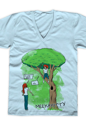 The Tree V-Neck (Light Blue)