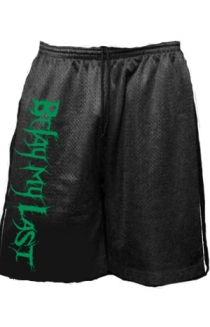 Shorts (Black w/ Green Print)