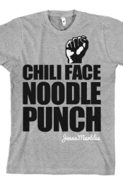 Chili Face Noodle Punch (Heather Grey)