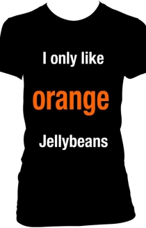 i only like orange jellybeans