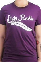 Women's Purple Feather Tee