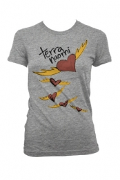 Heartbats T-Shirt (Girls Heather Grey)