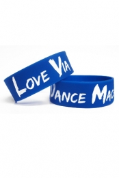 Love Via Dance Machine Wristband (Blue)