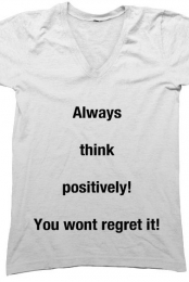Think Positively! (V-neck)