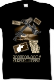 INTENSE ACTION PACKED AIRSOFT COMBAT VIDEOS TSHIRT FOR STALKSNIPEOUT YOUTUBE