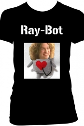 ''Ray-Bot'' Black Tee Womens