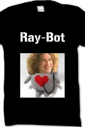 ''Ray-Bot'' Black Tee Mens