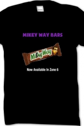 ''Mikey Way Bars'' Black Tee Men