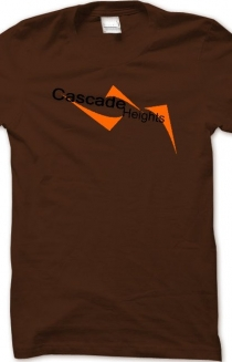 Cascade Heights Men's Brown T-Shirt